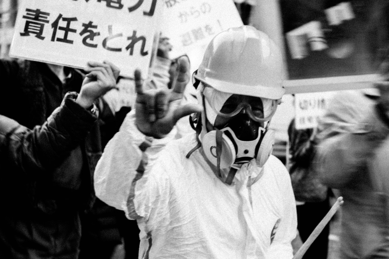 Anti-Nuclear Protest During The Fukushima Nuclear Power Plant Disaster Anniversary