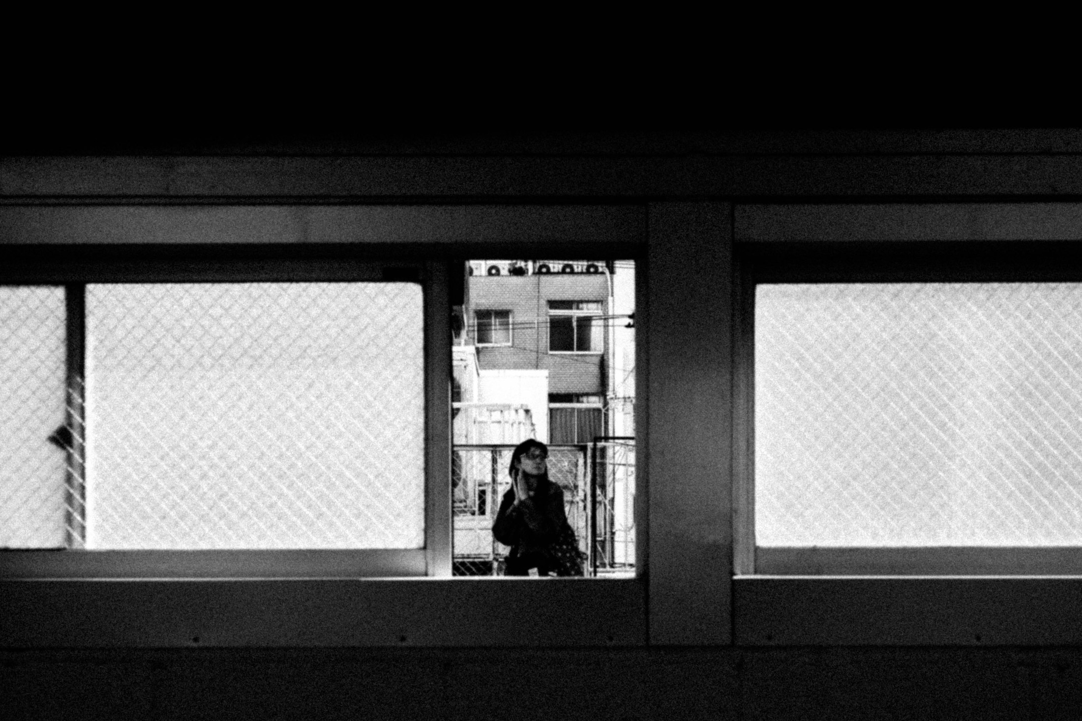 Framed At The Train Station