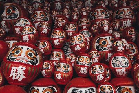 Daruma Dolls In Katsuoji Temple, Minoh